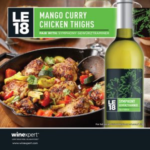 LE18 Symphony Gewürztraminer Mango Curry Chicken Thighs