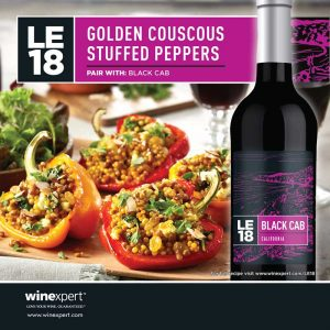 LE18 Black Cab Golden Couscous Stuffed Peppers